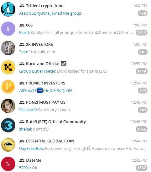 Most Popular Telegram Groups 2018 applygist.com