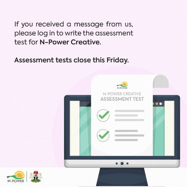 assessment test for npower creative