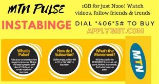 1GB for just N200 Applygist.com MTN Pulse Instabinge