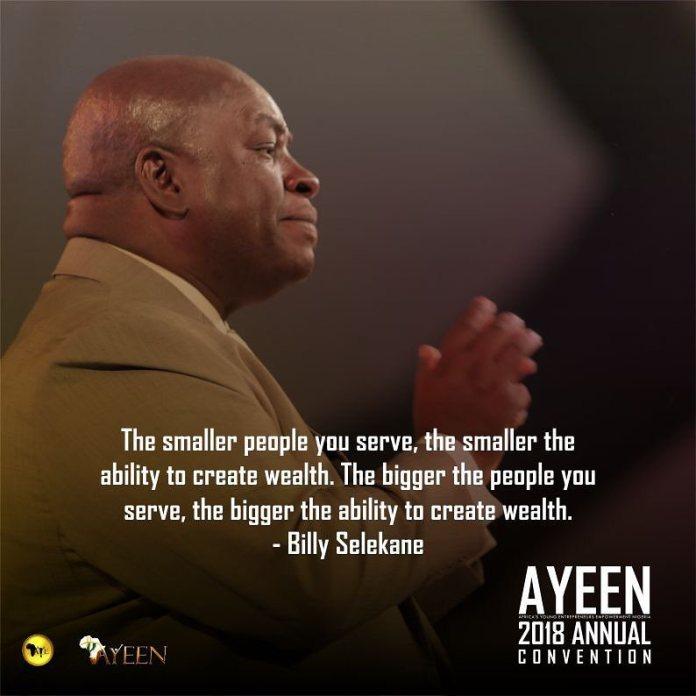 Amazing speech by @billyselekane_speaks at AYEEN2018