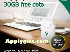 Enjoy 30GB FREE Data Buy 9Mobile Mifi