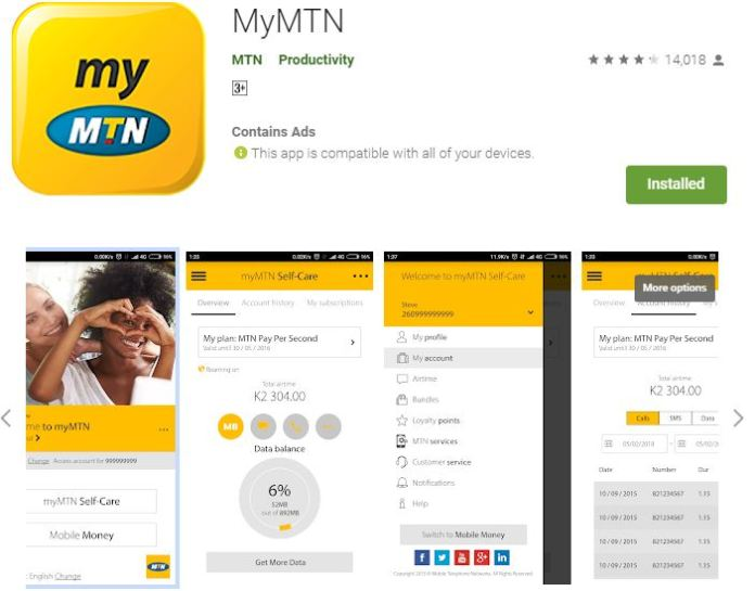 Free 500MB Data MyMTN App - Applygist Tech News