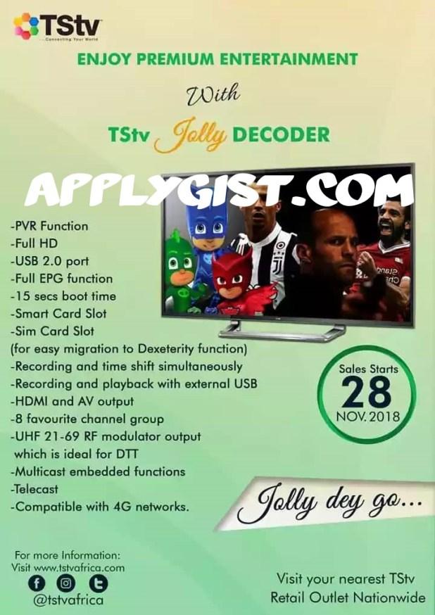 TStv Introduces Jolly Decoder