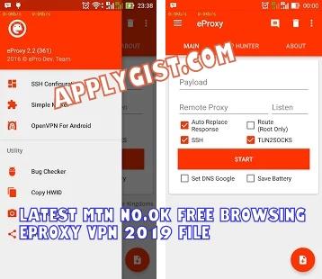 Latest MTN N0.0k Free Browsing eProxy