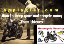 keep your motorcycle away from thieves