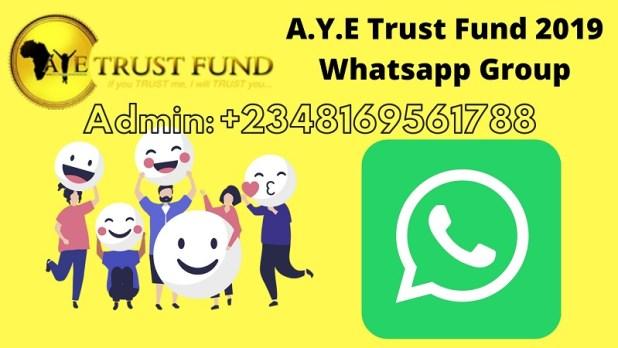 A.Y.E Trust Fund 2019 Whatsapp Group
