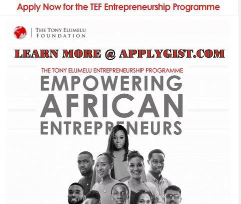 Apply for tony Elumelu Grant 2019