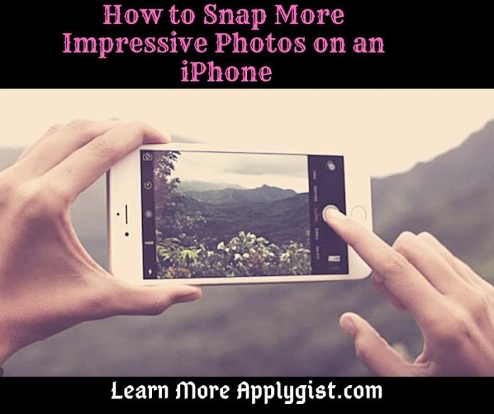 Photos on an iPhone