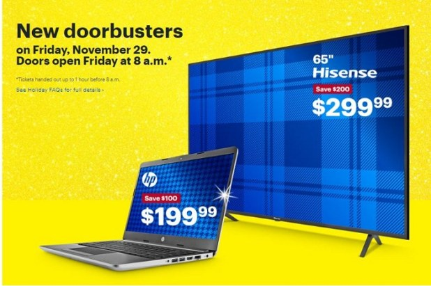 New doorbusters on Friday, November 29.