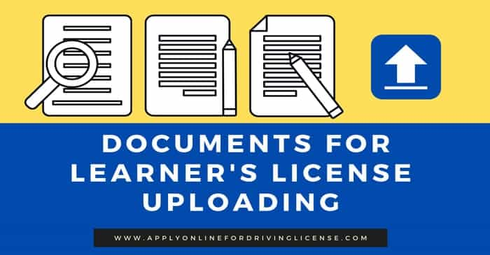 required documents for learning driving license