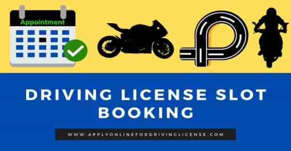 driving license slot booking online