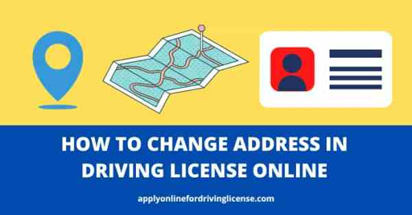 address change in driving licence