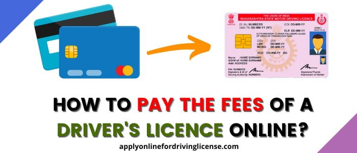 how to pay the real fees of driving license in india