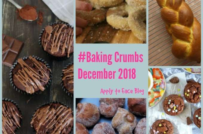 Collage for all featured recipes for Baking Crumbs december 2018