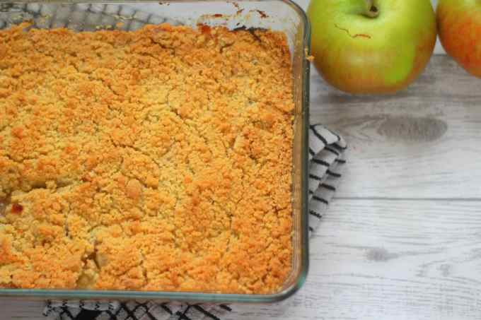 baked apple crumble with bramley apples