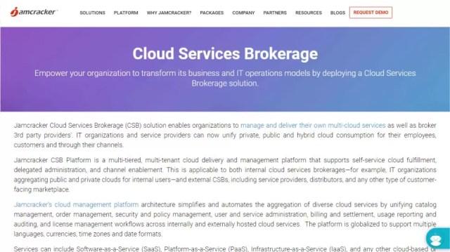 Jamcracker Cloud Services Brokerage