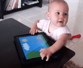 never too young for iPad