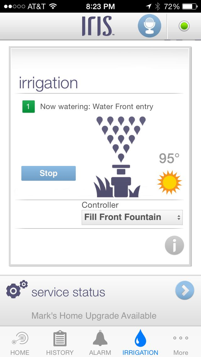 Iris 1.0 watering screen shot