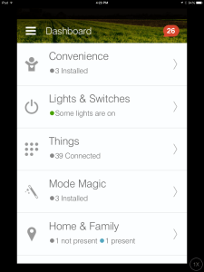 smartthings home