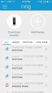 ring pro smart doorbell app