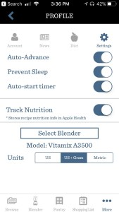 smart vitamix app features