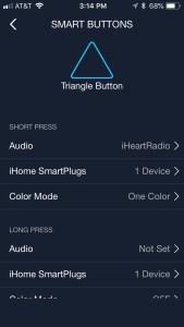 iHome AVS smart button customization