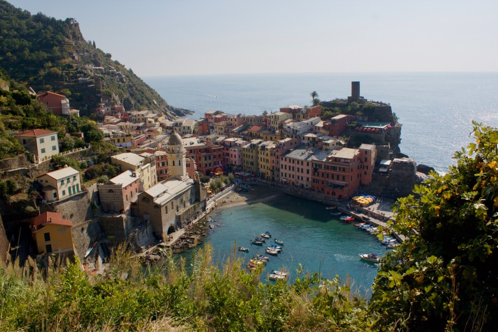view of Vernazza from footpath #2