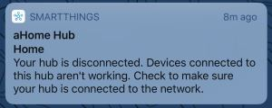 SmartThings Disconnected Notification