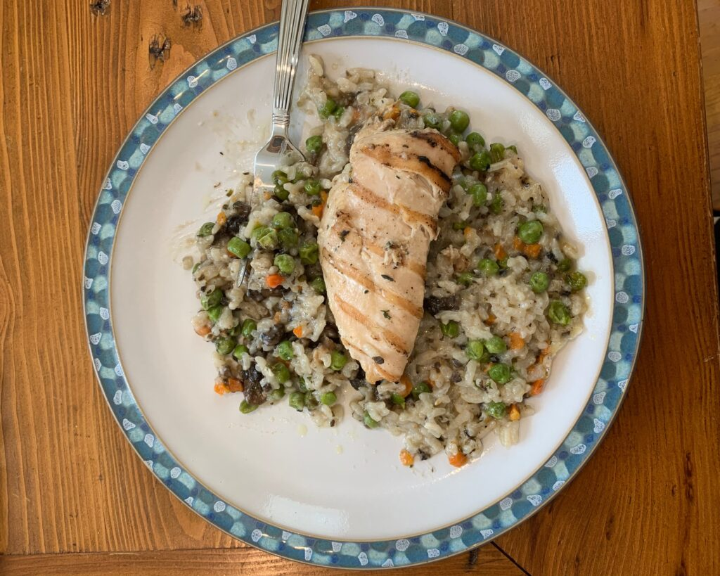 Chicken with Risotto Cooked