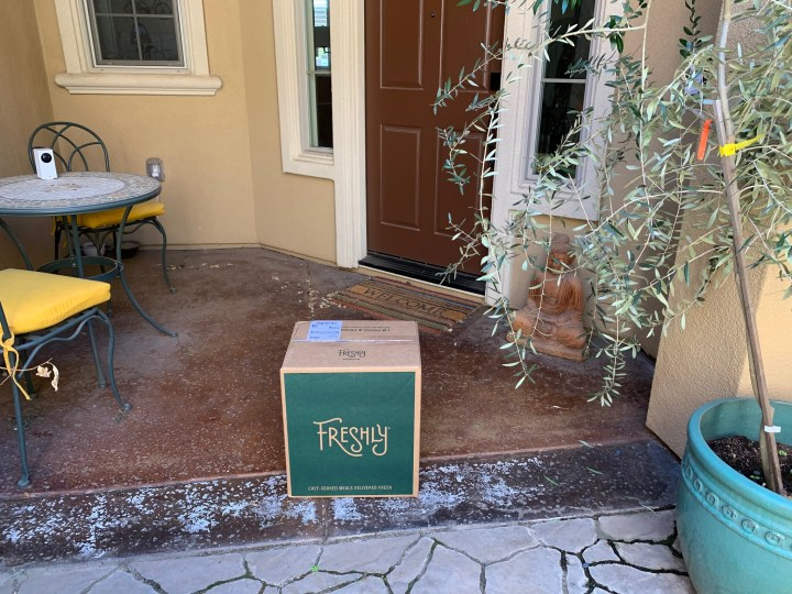 Freshly box at door