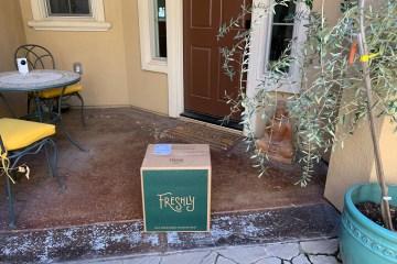 Freshly box at door