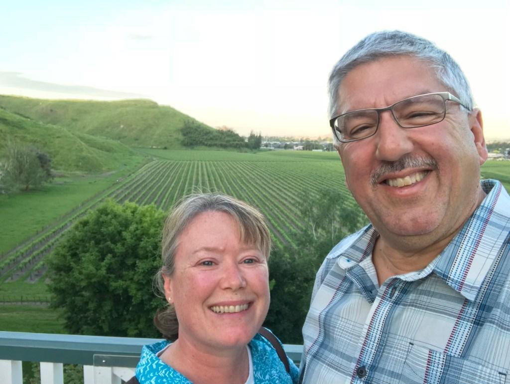 Valerie and Mark at Mission Estate Napier