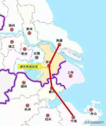 通蘇嘉甬高鐵線路圖,江蘇省張家港市加速融入長三角,環上海4城市一線連接 - 貍貓旅行