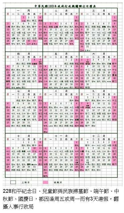 2014年行事曆 - 小鐵星座