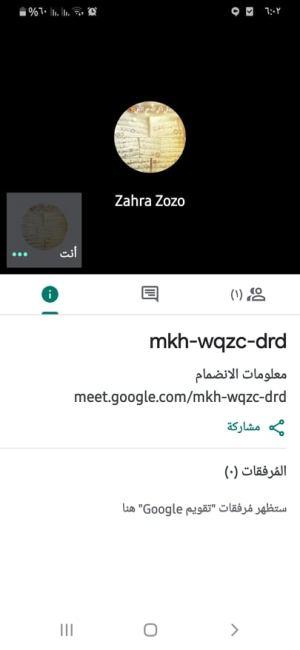 معلومات الاجتماع في تطبيق Google Meet