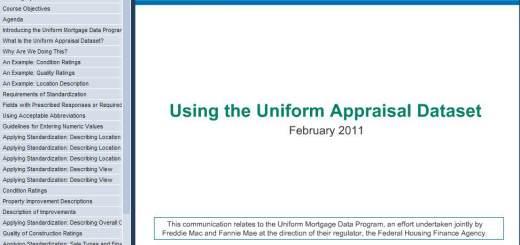 Uniform Appraisal 72