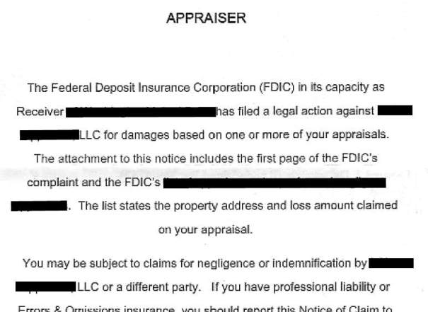 Notice of Claim Appraiser