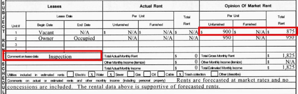Rental Block Fannie Mae Form 1025 Appraisers Blogs