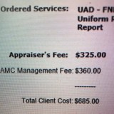 AMC management fees exceeding the appraiser's fee more frequently