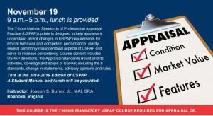 7-Hour USPAP Class @ SVAR