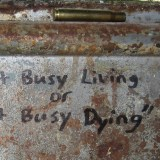 The Last Line of Defense... Get Busy Living or Get Busy Dying