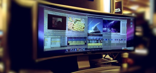 Multi-Display Efficiency on One Curved Monitor During Report Production