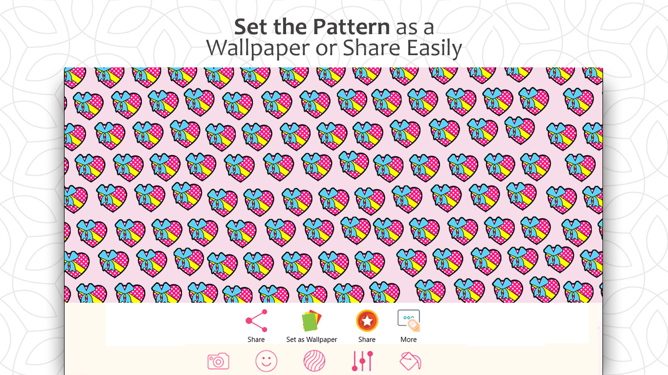 Pattern Maker Backgrounds & Wallpapers for Windows 10 is on