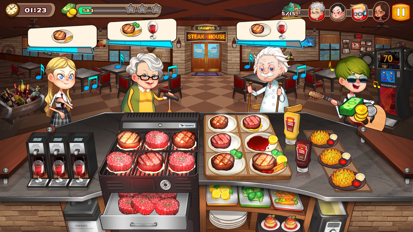 free kitchen games tables for small spaces cooking adventure apk simulation android game