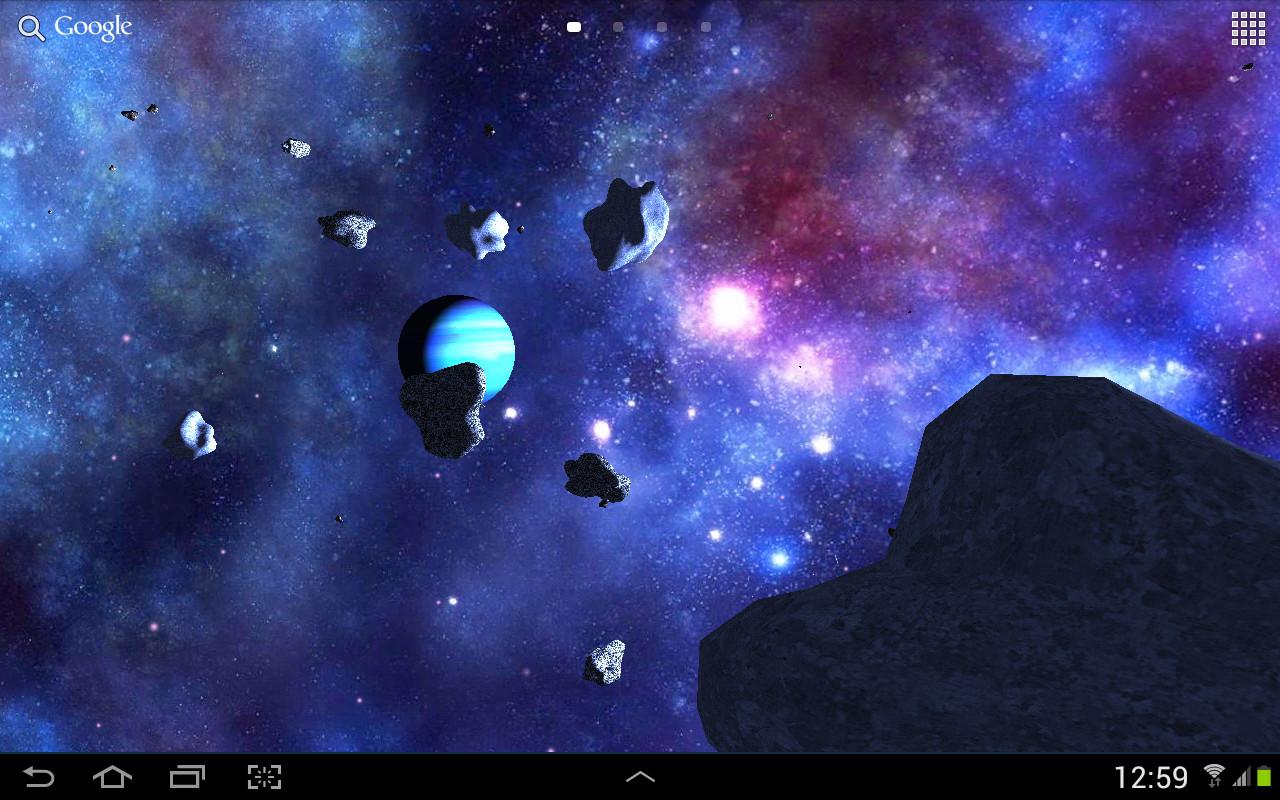 3d Parallax Background Wallpaper App Asteroids 3d Live Wallpaper Free Android Live Wallpaper