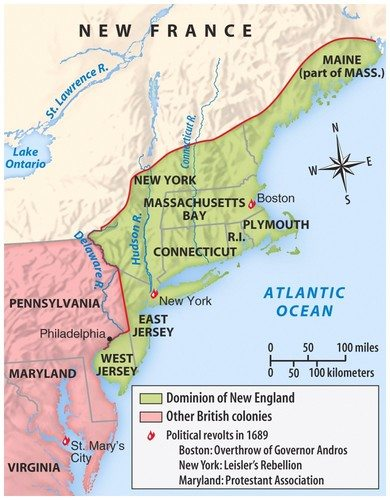 Dominion of New England for APUSH  Simple Easy Direct