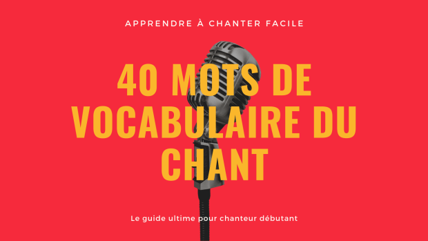 vocabulaire du chant