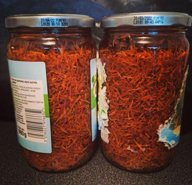 macérat de calendula souci dans de l'huile d'olive pour faire du savon de castille
