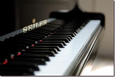 Clavier de piano propre
