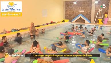 Le pied dans l'eau dans La quotidienne France 5 : Vaincre sa peur de l'eau c'est possible